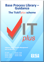 Picture of TickITplus Base Process Library Guidance front page
